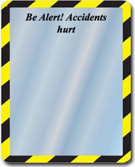 Be Alert Slogan Mirror