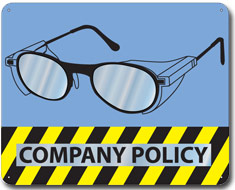 Company Policy Slogan Mirror